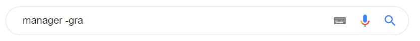 Jeśli nie chcesz czegoś wyszukiwać w Google użyj znaku minus